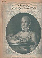 JOURNAL DES OUVRAGES DE DAMES N°307 du 1er octobre 1913 broderie vintage fashion