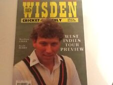 WISDEN CRICKET MONTHLY - JUNE 1991- SIGNED BY MIKE ATHERTON - LANCASHIRE-ENGLAND