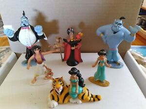 Mattel Disney Aladdin Figures 1992 6 Pieces Aladdin, Genie, Jasmine, Jafar