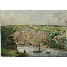 Original Antique Signed Unframed Avon Gorge Watercolour Painting Clifton Bristol
