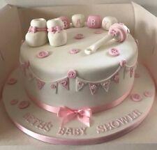 Edible Sugarpaste BABY Cake SET Topper BIRTHDAY CHRISTENING BABY SHOWER