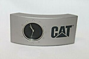 CAT Caterpillar Tractor Clock Small Office Advertising Decor Works!!