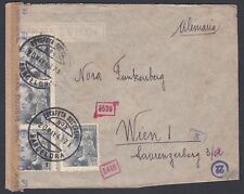 SPAIN 1943 WWII TWICE CENSORED COVER BARCELONA TO VIENNA AUSTRIA