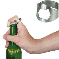 1X Finger Thumb Ring Bottle Opener Bar Beer Tool Silver Stainless Steel Tool