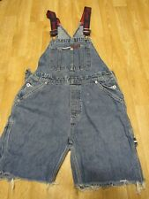 Vintage Tommy Hilfiger Jeans Overalls Womens Medium shorts Spell out 1990s Bib