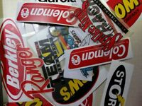 Fishing Stickers LOT of (22) Decals  for Brand Lovers