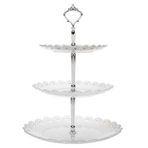 Three-Layer Snack Rack Cake Stand 3 Tier Wedding Birthday Party Cake Plate