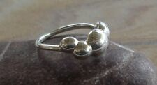 Pandora Sterling Silver Quad Four Bubbles Domed Clouds Ring Size 9 ~ $90 retail
