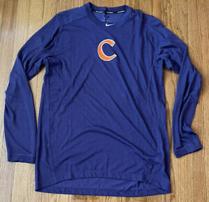Men's Clemson Tigers Nike Baseball Raglan Performance Long Sleeve Shirt NWOT XL