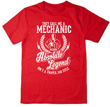 Mechanic T-Shirt - Absolute Legend! Funny T-Shirt available in 6 colours.