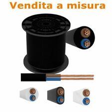 Cavo gommato bipolare 2x0.75/1/1.5 tondo piattina filo elettrico VENDITA A METRO
