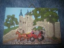 Quebec, Canada, La Porte Saint Louis Souvenir Ceramic Collectible Plate
