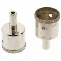 2Pcs 33 mm Diamond Drill Bits Coated Hole Cutter Saw Glass Tile Ceramic Marble
