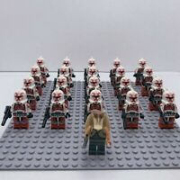 20x Red Shock Clone Troopers Mini Figures (LEGO STAR WARS Compatible)