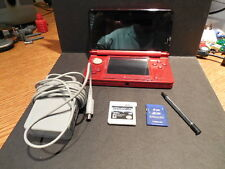 Nintendo Fire Red 3DS Console Bundle Spiderman 3DS Stylus more