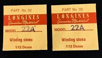 Longines No 32 Automatic Winding Stem Model 22A NOS VTG Watch Parts