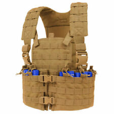 CONDOR CS-498 Modular Chest Rig MOLLE Mag Pouch & Hydration Carrier Coyote Brown