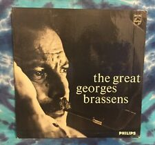 The Great Georges Brassens   PHILIPS BL-7832   Import   UK   Rare!!! LP