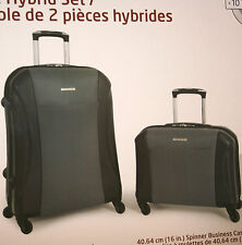 "Samsonite 2-Piece Hybrid Set 4-Wheel Luggage 24"" & 16"" Spinner Business Case NEW"