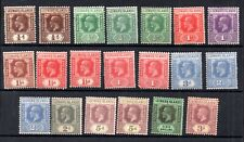 Leeward Islands KGV mint unchecked collection WS18327