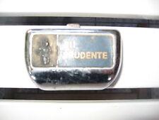 """vecchio portacenere da auto d epoca cromato """" SII PRUDENTE! ANNI 50/60 vintage"""