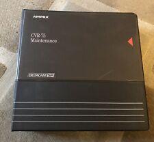 Ampex CVR 75 (Betacam SP) VTR Broadcasting - Volume 2 - PAL - Circuit Diagrams