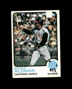 Sandy Alomar Hand Signed 1973 Topps California Angels Autograph