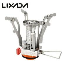 LIXADA Mini Pocket Outdoor Cooking Burner Folding Camping Gas Stove 3000W C4D5