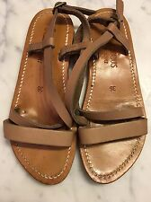 K Jacques ladies shoes size 36 Sandals Natural Leather 5.5 6