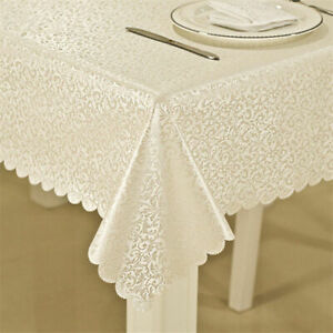 High Quality Waterproof Oilproof Tablecloth with Exquisite Flowers Decoration
