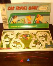 Vintage The Car Travel Game Board Game Wont Lose Your Pieces Milton Bradley 4825