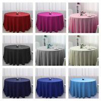 48 inch Round Tablecloth Wedding Banquet Table Cover Polyester Fiber Cloth LA1