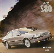 2001 VOLVO S80 SALES BROCHURE With all the specs. this is used wrote on 1 page