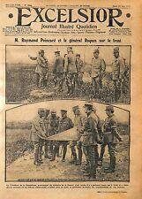 Président Raymond Poincaré & Général Pierre Auguste Roques Bataille WWI 1916