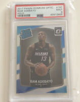 BAM ADEBAYO DONRUSS OPTIC Holo Prizm #187 Heat RC Rated Rookie PSA 9 MINT Card