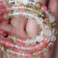 "Beautiful 8mm colour natural  bead gemstone loose beads 15 ""+++"