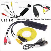 Easycap USB 2.0 Video Audio VHS to DVD Converter Capture Card Adapter DV VCR PC