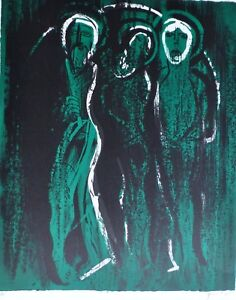 "JOHN PIPER (1903-1992) ""SAINTS"" 1975 Hand signed LITHOGRAPH British Artist"