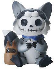 Furry Bones Bandit the Raccoon Figurine, Skeleton in Costume, Nib