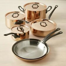 Mauviel France M250C Copper 10 Piece Cookware Set 2.5MM NEW