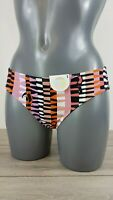 MONKI Your Eyes Lie Hand Printed Bikini Bottoms MULTI UK SMALL 10 B631-2