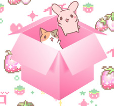 Surprise Kawaii Box - Stickers Candy Molang San-X Face Mask Anime Cats Japanese