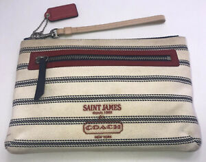 Saint James for Coach Legacy Weekend Wristlet Clutch Wallet Striped