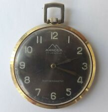 Vintage KANDER Antimagnetic17 Jewels Swiss Made Pocket watch From 1970's