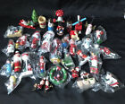 Lot Vintage Wooden Christmas Tree Ornaments Variety