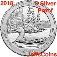 2018 S Voyageurs Island 90% Silver Proof Park Quarter Minnesota New ATB U.S.Mint