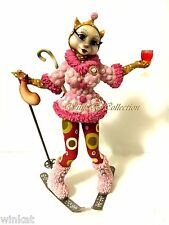 "Margaret Le Van Alley Cats ""Lushus"" on Ski Cat Figurine FE31 Retired"