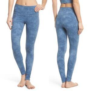 ALO YOGA Denim Acid Wash Airbrush 7/8 Leggings Sz XXS XX-Small Tie Dye High Rise