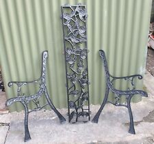 Cast Iron Bench Ends and Back Rest