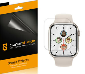 3X Supershieldz Clear Full Cover Screen Protector for Apple Watch Series 7 45mm